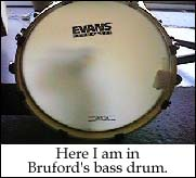 Thats me in the bass drum!