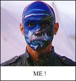 Face-painted photo of Tony.