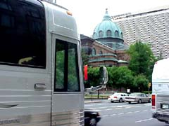 The bus in downtown Philly